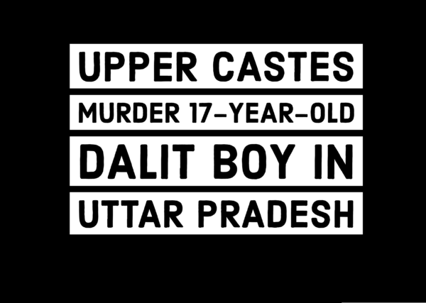 Four upper castes murder 17-year old Dalit boy in UP for temple entry